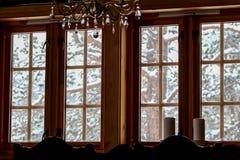 第一雪的沈默 库存照片