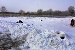 第一雪落 免版税图库摄影