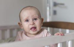 第一颗牙生长婴孩 免版税库存图片