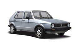 第一代VW打高尔夫球 库存照片