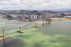 第三座桥梁, Vitoria,韦利亚镇,巴西 免版税库存图片