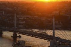 第三座桥梁, Yavuz苏丹塞利姆桥梁 免版税库存照片