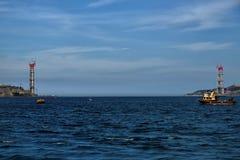 第三座Bosphorus桥梁建设中 库存图片