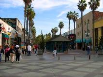 第三街道散步,圣塔蒙尼卡,加利福尼亚,美国 免版税库存照片