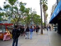 第三街道散步,圣塔蒙尼卡,加利福尼亚,美国 免版税图库摄影