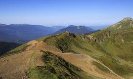第三高峰Aigbi在高加索山脉。 免版税库存图片