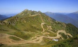 第三高峰Aigbi在高加索山脉。 库存照片