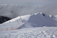 第三高峰Aigbi在高加索山脉 免版税库存图片