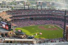 第三Busch体育场,圣路易斯,密苏里的一个高的看法,匹兹堡海盗打2006年联赛冠军 免版税库存照片