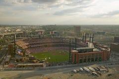 第三Busch体育场,圣路易斯,密苏里的一个高的看法,匹兹堡海盗打2006年联赛冠军 库存图片