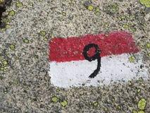 第九-路线标号 免版税库存照片