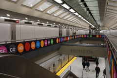 第二个大道地铁38 库存照片