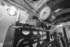 第二个战争世界水下内部 军用船 免版税库存照片