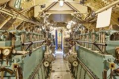 第二个战争世界水下内部 机舱 军事vesse 库存图片