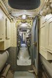 第二个战争世界水下走廊内部 军用船 免版税库存照片