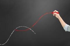 第二个曲线概念 免版税库存图片