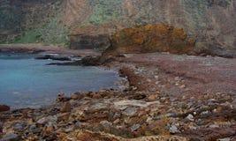 第二个谷海滩在冬天 免版税库存照片
