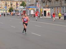 第二十七场西伯利亚国际马拉松 免版税库存照片