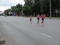 第二十七场西伯利亚国际马拉松 库存照片