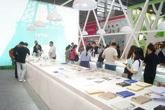 第二十四种中国(深圳)国际礼物、艺术&工艺,家供应陈列 免版税库存图片