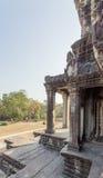 第二墙壁,吴哥窟, Siem Riep,柬埔寨看法  免版税库存照片