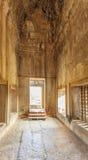 第二墙壁,吴哥窟, Siem Riep,柬埔寨看法  库存图片