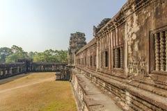 第二封入物墙壁,吴哥窟,暹粒,柬埔寨 免版税库存照片