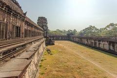 第二封入物墙壁,吴哥窟,暹粒,柬埔寨 库存照片