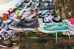 第二手鞋子 免版税图库摄影