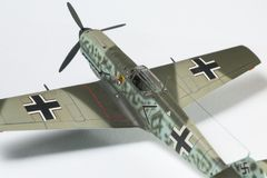第二架wolrd战争飞机塑料模型  库存图片