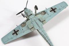第二架wolrd战争飞机塑料模型  免版税库存图片