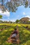第二次世界大战公墓在唐Rak北碧泰国 免版税库存图片