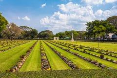 第二次世界大战公墓在唐Rak北碧泰国 库存图片