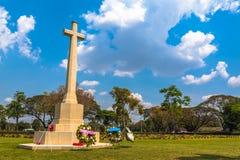 第二次世界大战公墓在唐Rak北碧泰国 图库摄影