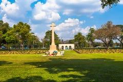 第二次世界大战公墓在唐Rak北碧泰国 免版税库存照片