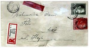 从第二次世界大战时间的信封从波兰 免版税库存照片