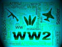 第二次世界大战显示Wwii敌意的和军事 皇族释放例证