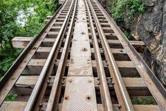第二次世界大战的历史的铁路木clsoe 免版税图库摄影