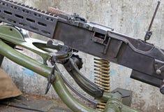 从第二次世界大战的机关枪 免版税库存图片