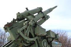 第二次世界大战的老高射炮 图库摄影