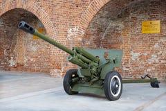 第二次世界大战的苏联反坦克76 mm枪 免版税图库摄影