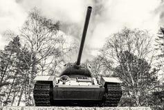 第二次世界大战的苏联坦克T-34, Kezmarok,斯洛伐克, colorl 图库摄影