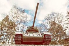 第二次世界大战的苏联坦克T-34, Kezmarok,黄色过滤器 免版税图库摄影
