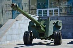 第二次世界大战的苏联的便携式武器的照片,绘在深绿colo 库存图片