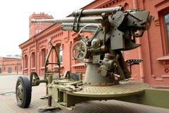 第二次世界大战的苏联高射炮 图库摄影