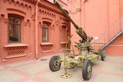 第二次世界大战的苏联高射炮 库存照片