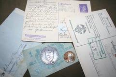 第二次世界大战的记忆1941-1945 从科瓦廖夫上尉的未装配的档案 免版税库存图片