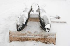 第二次世界大战的鱼雷,盖用雪 库存照片