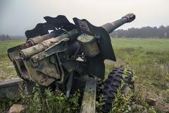 第二次世界大战苏联军用大炮 库存照片