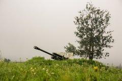 第二次世界大战苏联军用大炮 免版税库存照片